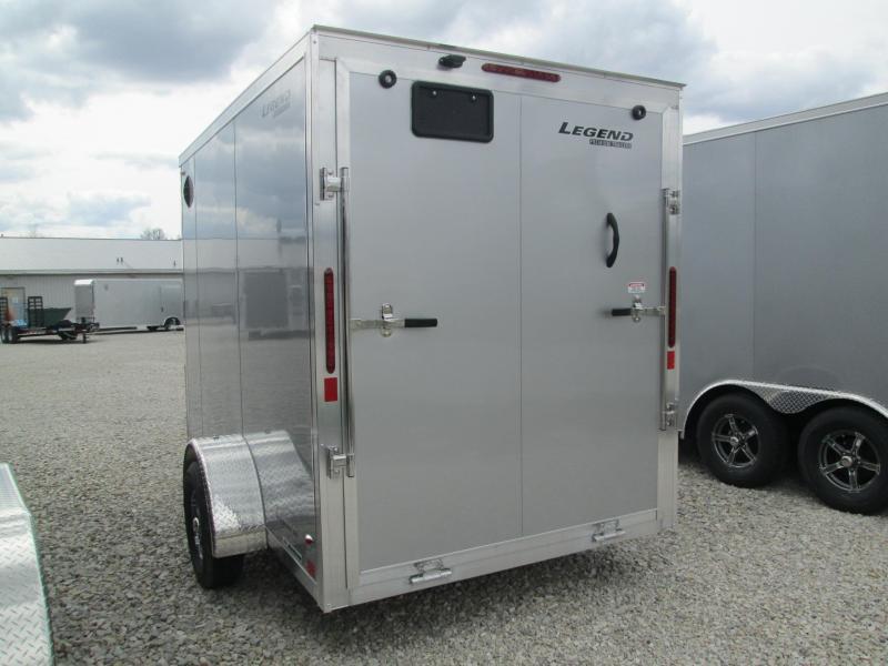 2021 6x10+V Nose Legend Explorer Enclosed Cargo Trailer. 17138