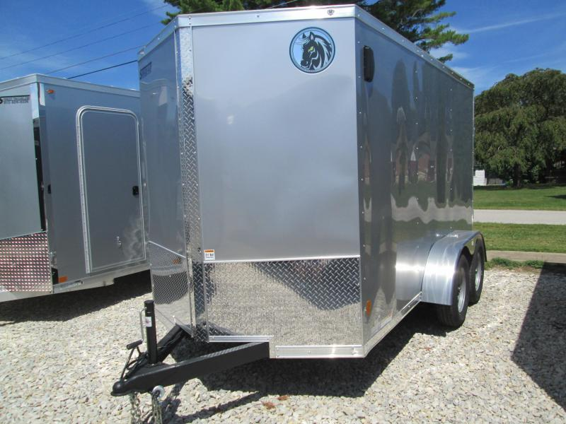 2021 6x12 7K Darkhorse Enclosed Cargo Trailer. 1437