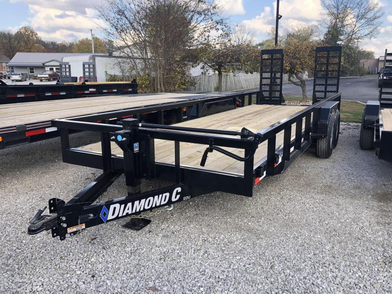 "2021 20'+2'x82"" 14K Diamond C EDU207 Utility Trailer. 35737"
