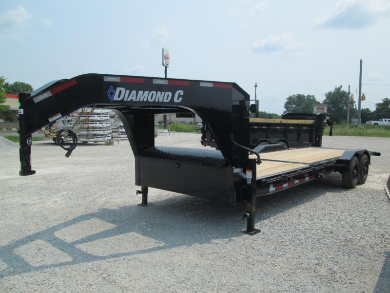 2021 16+8x82 20K Diamond C HDT210 Gooseneck Split Deck Tilt Equipment Trailer. 49119