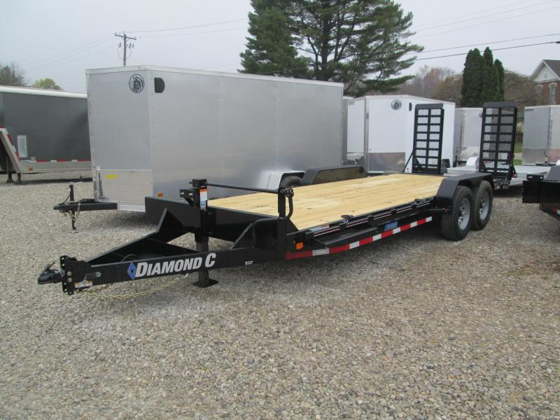 "2021 20'+2'x82"" 14K Diamond C EQT207 Equipment Trailer. 36676"