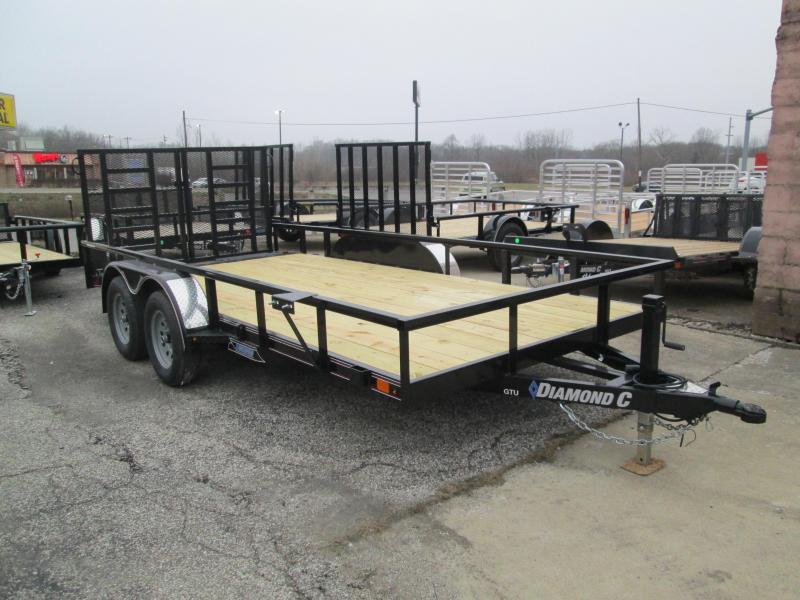 "2021 14'+2'x83"" 7K Diamond C GTU235 Utility Trailer. 39893"