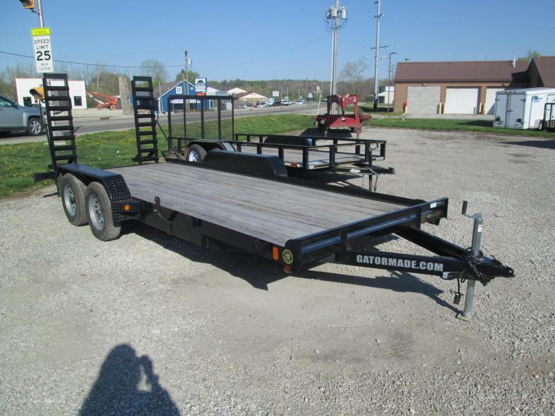 2020 Gatormade Trailers 18 Lowboy Equipment Trailer