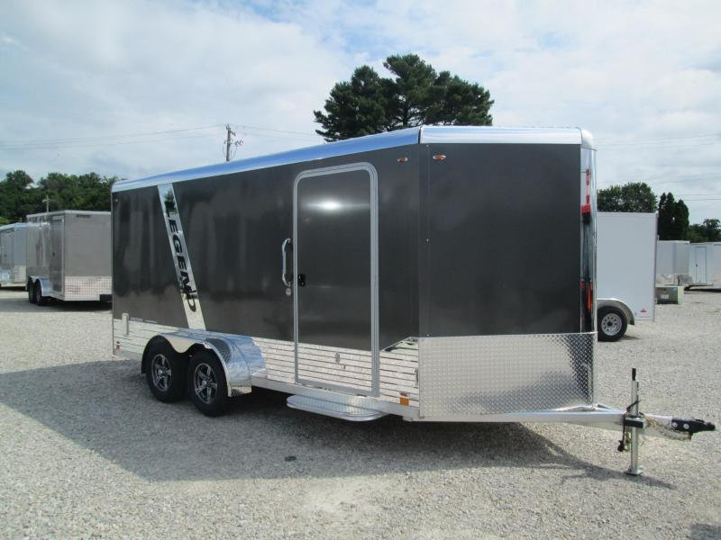 2021 Legend  7X19 DELUXE V NOSE (16+3 foot V Nose) 7K Enclosed Cargo Trailer. 17110
