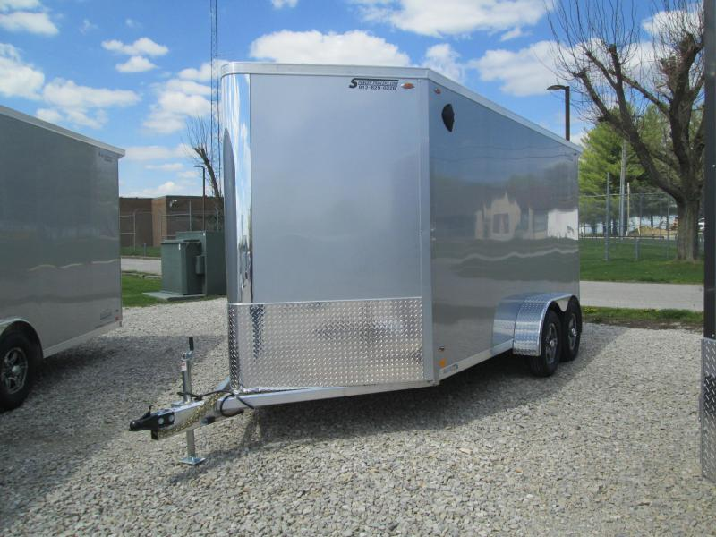 2022 7x14+V-Nose Legend Flat-Top V-Nose Enclosed Cargo Trailer. 17708