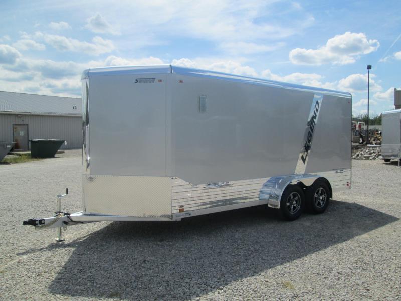 2021 LEGEND 7x16'+3' Foot V-Nose DVN Enclosed Cargo Trailer 317246