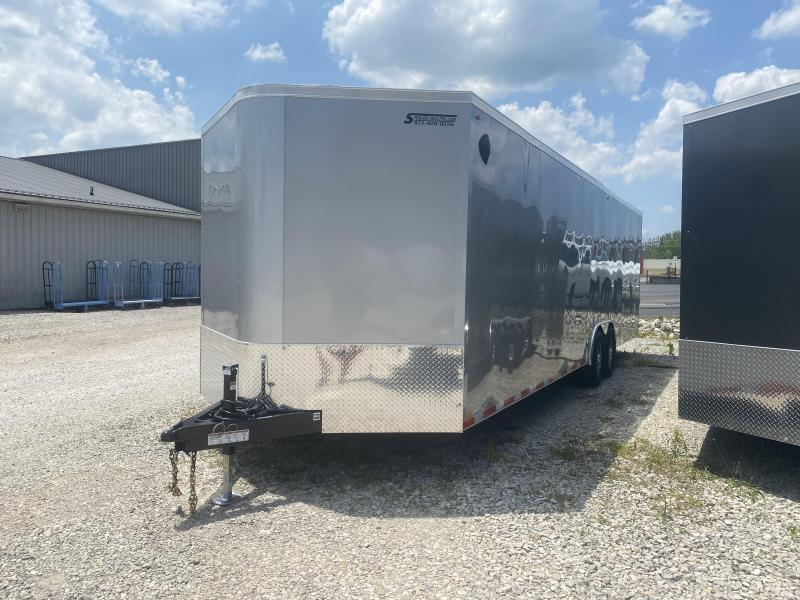 2021 LEGEND 8.5x28'+ V-Nose Cyclone Enclosed Trailer. 17650