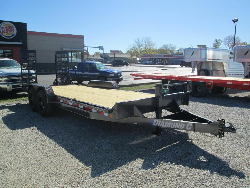 "2021 18'+2'x82"" 14K Diamond C EQT207 Equipment Trailer"