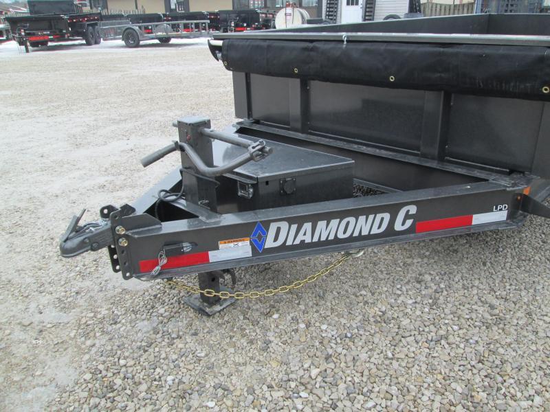 "2021 82""x14' 14.9k Diamond C Low-Pro Dump. 42305"