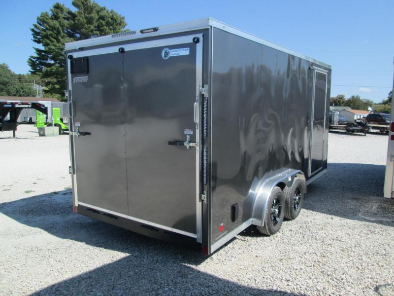 2021 7.5x16 7K Darkhorse DHW Vinyl Floor and Walls Enclosed Cargo Trailer. 01674