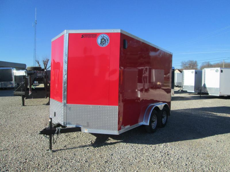 2021 7.5x12 7K Darkhorse Enclosed Cargo Trailer. 102528