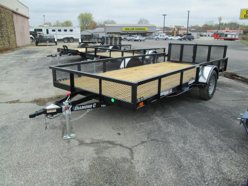 2021 14x77 Diamond C PSA135 Utility Trailer. 35746