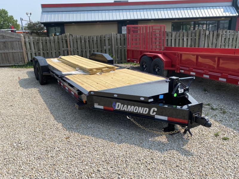 2021 16+6x80 18k Diamond C HDT208 Split Deck Tilt Equipment Trailer. 49114