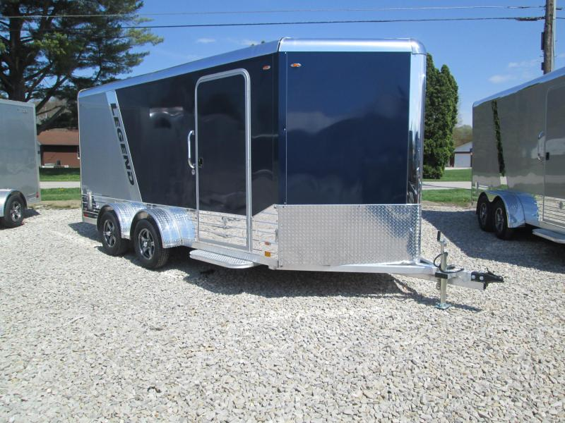 2021 7x16+V-Nose 7K Legend DVN Enclosed Cargo Trailer. 17742