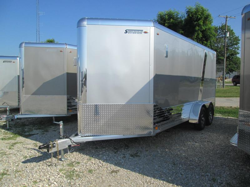 2021 7x16'+V-Nose 7K Legend DVN Enclosed Trailer. 17859