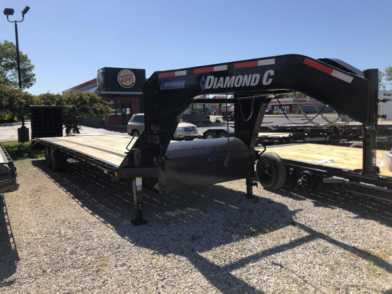 "2020 FMAX 207MR 25'+5'x102"" 15.5K Diamond C Engineered Beam Equipment Trailer. 27616"