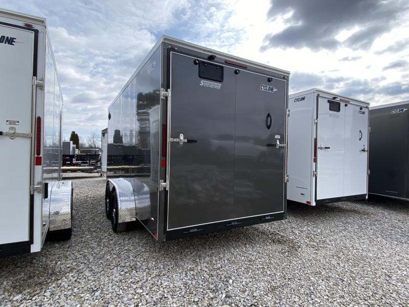 2020 7x16'+V-Nose 7K Legend Cyclone Enclosed Trailer. 17616