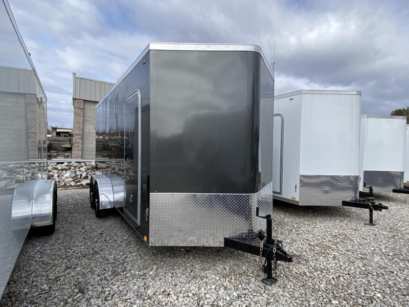 2020 7x16'+V-Nose 7K Legend Cyclone Enclosed Trailer. 17616