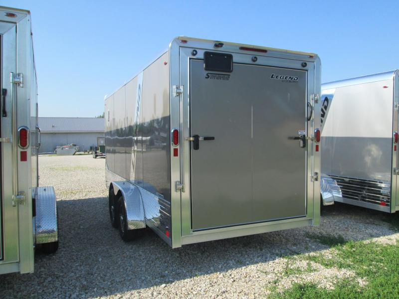 2020 16'+3'V-Nose 7K Legend DVN Enclosed Trailer. 17464