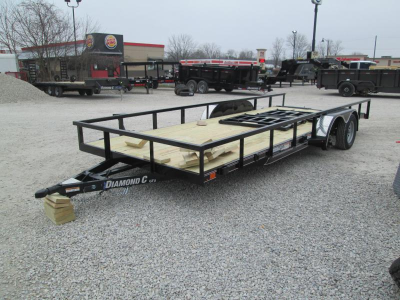 2021 18'+2' 7K Diamond C  GTU235 Utility Trailer. 40782