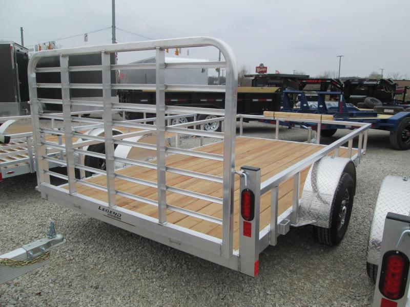 2021 7x12 Legend Open Aluminum Utility Trailer. 17632