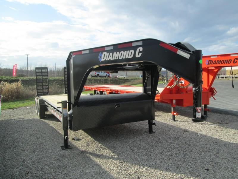 2021 20+2x80 18K Diamond C LPX208 Gooseneck Equipment Trailer. 37366