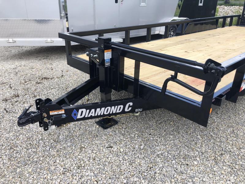 2020 20'+2'x82 14.9K Diamond C EDU Equipment Trailer. 32170
