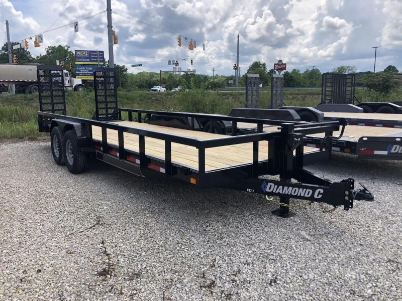 2020 20'+2'x82 14.9K Diamond C EDU Equipment Trailer. 32170