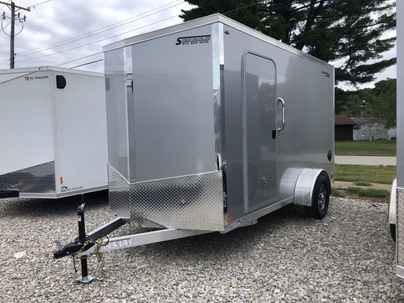 2021 6x12+V-Nose Legend Explorer Enclosed Cargo Trailer. 17608