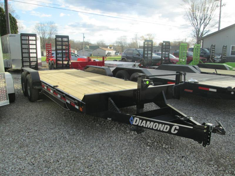 "2021 18'+2'x82"" 14K Diamond C EQT207 Equipment Trailer. 36675"