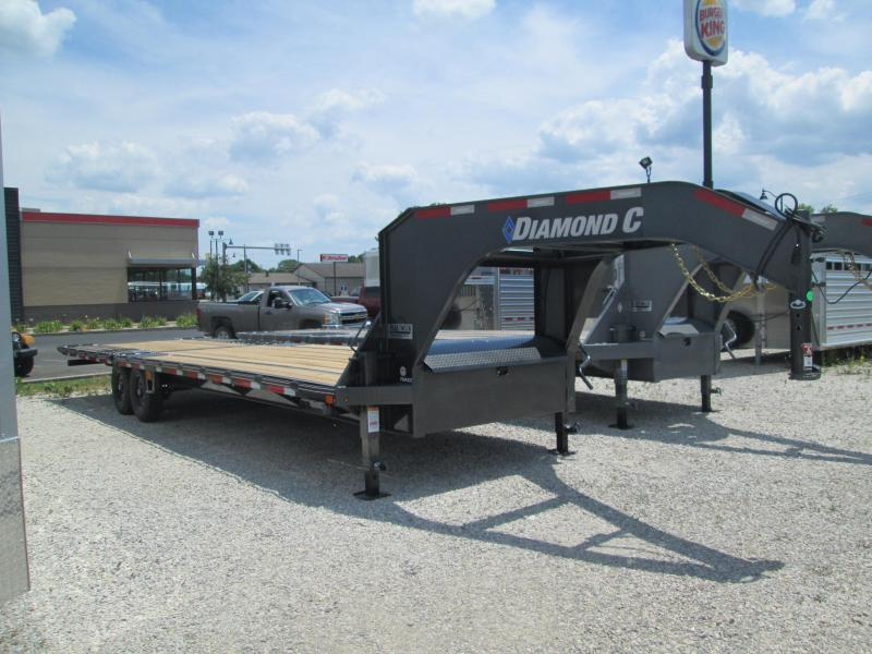 2020 FMAX 207HDT 18'+12'x102 15.5K Diamond C Engineered Beam Equipment Trailer. 30290