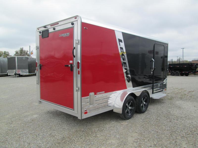 2021 7'x16'+3' V-Nose 7K Legend DVN Enclosed Cargo Trailer. 17750