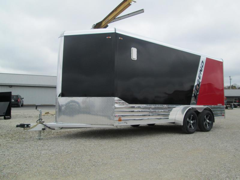 2021 7'x16'+3' V-Nose 7K Legend DVN Enclosed Cargo Trailer. 17750
