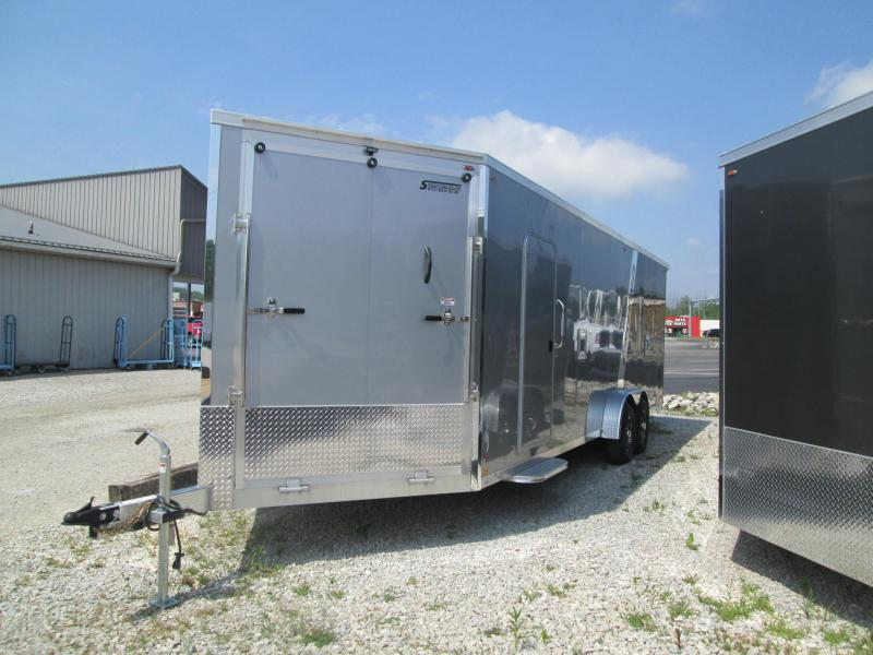 2020 LEGEND 7.5x24'+5' V-nose 10K Power Sports Enclosed Trailer. 17833