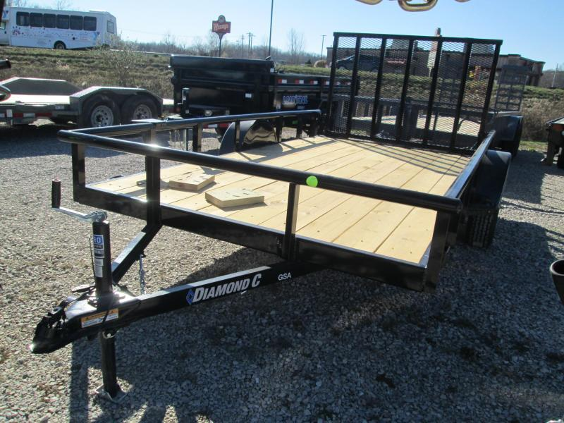 2021 12x77 Diamond C GSA135 Utility Trailer. 36936