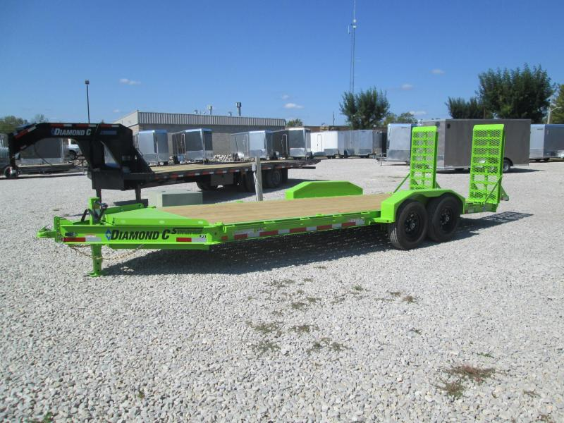 "2021 18'+2'x82"" 14.9k Diamond C Low-Pro Equipment Trailer. 34939"