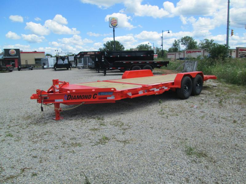 "2020 16'+4'x82"" 14.9K Diamond C HDT207 Equipment Trailer. 30625"