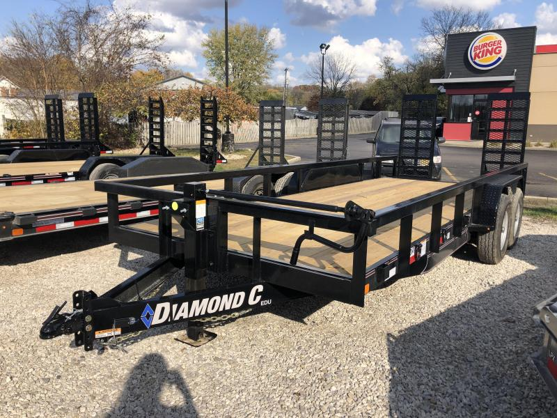 "2021 18'+2'x82"" 14.9K Diamond C EDU207 Utility Trailer. 35739"