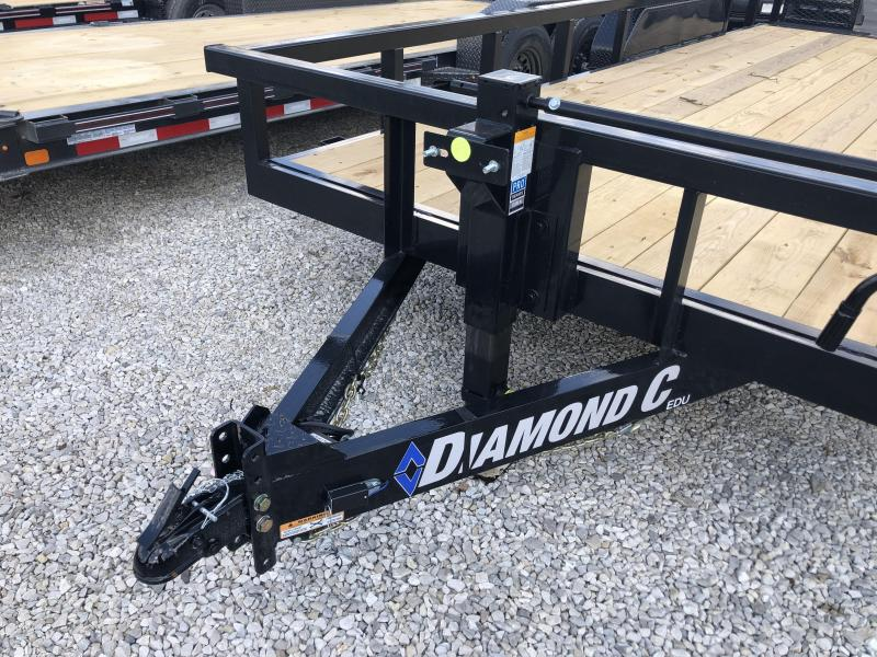 "2021 18'+2'x82"" 14.9K Diamond C EDU207 Utility Trailer. 35739"
