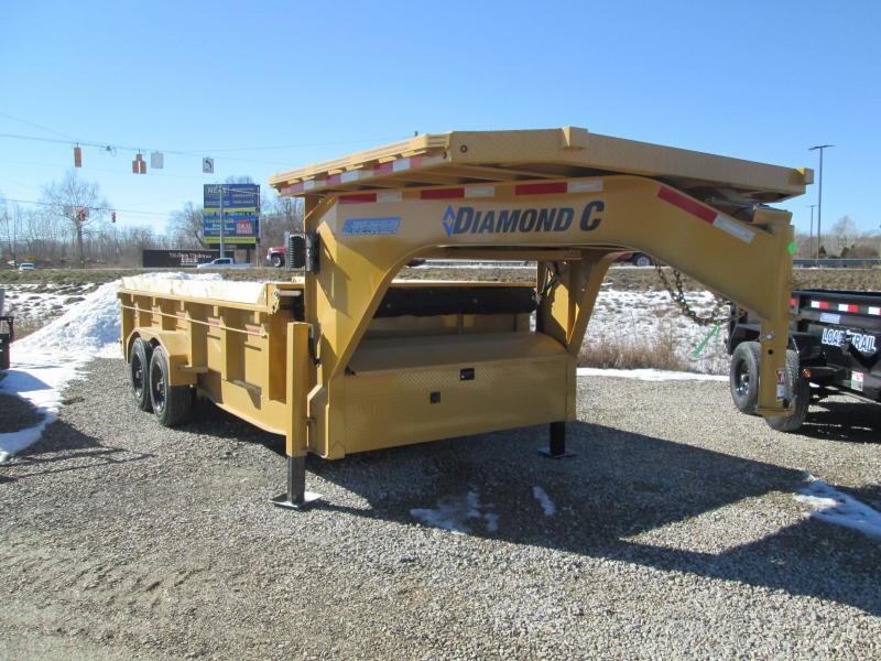 2021 16x81 18K Diamond C Gooseneck LPD208 Dump Trailer. 42570