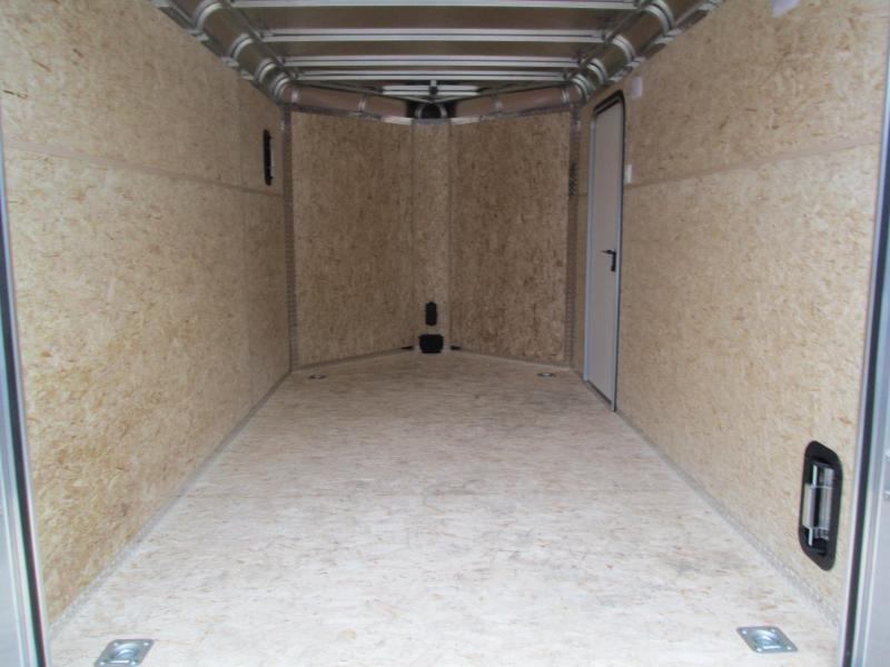 2021 7'x12'+3' V-Nose 7K Diamond C DVN Enclosed Cargo Trailer. 17752