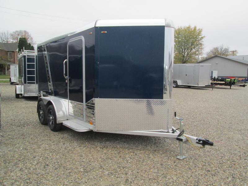 2021 7'x12'+3' V-Nose 7K Diamond C DVN Enclosed Cargo Trailer. 17752