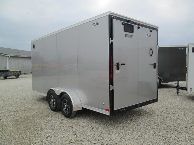 2021 7x16+V-nose Legend STV Cyclone Enclosed Cargo Trailer. 17999