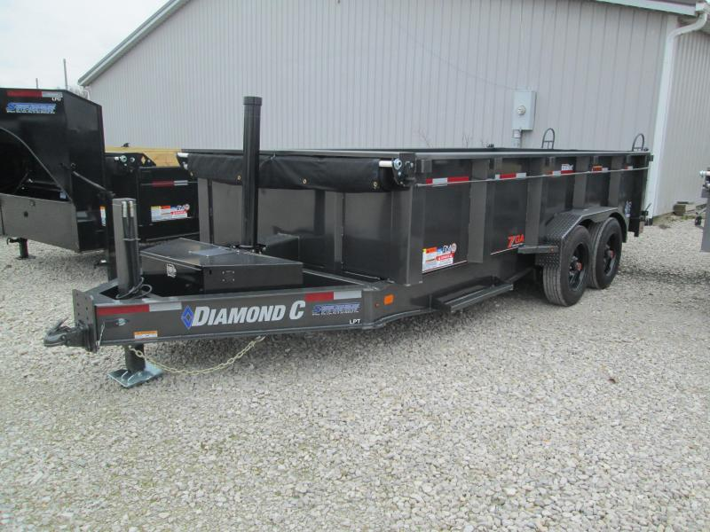 2021 16x81 18K Diamond C LPT208 Telescopic Dump Trailer. 37375