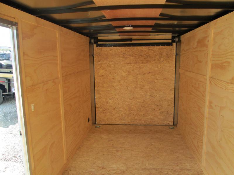 2021 6.5x14 5K Darkhorse Enclosed Cargo Trailer. 101566