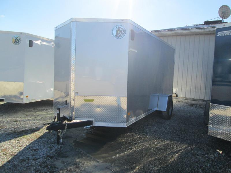 2021 6.5x14 5K Darkhorse Enclosed Cargo Trailer. 101566