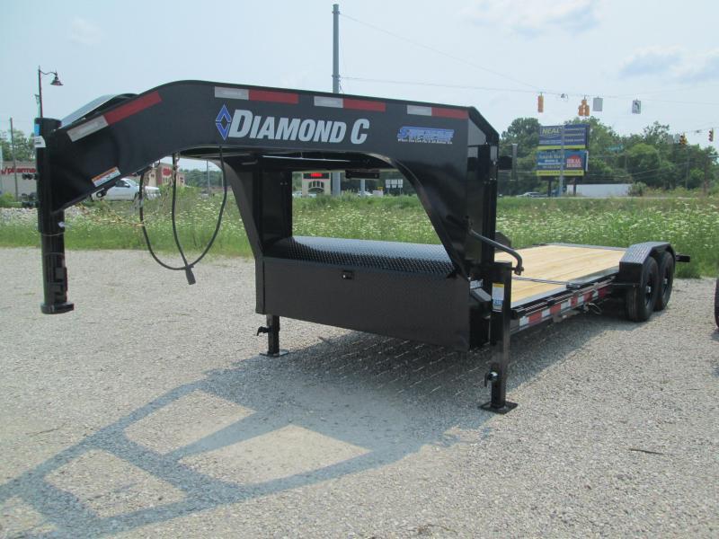 2021 16'+6'x82 14.9K Diamond C HDT207 Gooseneck Split Deck Tilt Equipment Trailer. 49322