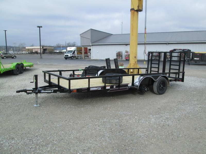 "2021 16'+2'x83"" 7K Diamond C GTU Utility Trailer. 39899"