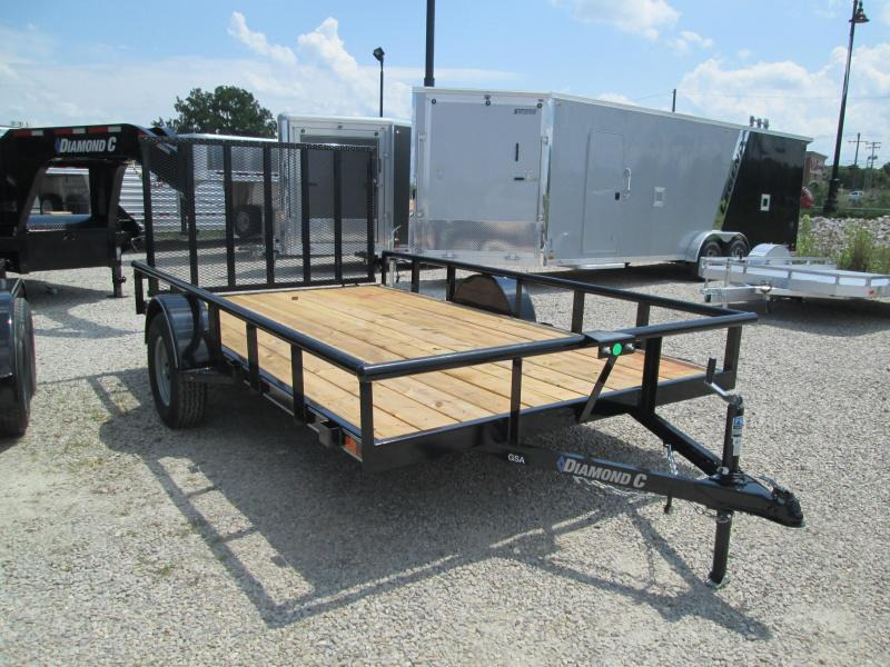 2020 12x83 GSA Diamond C Utility Trailer. 32035