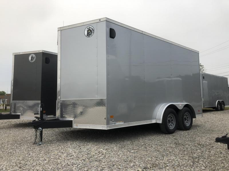 2021 7.5x14 7K Darkhorse Enclosed Cargo Trailer. 1791